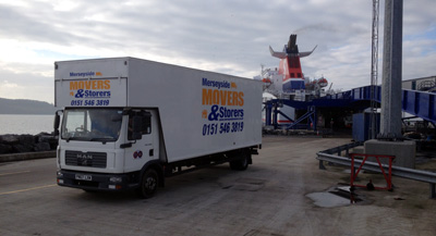 European Removals Company Vehicle